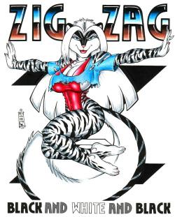 Zig Zag: Black and White and Black by Max Blackrabbit